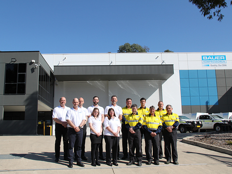 The team of the BAUER subsidiary in Sydney